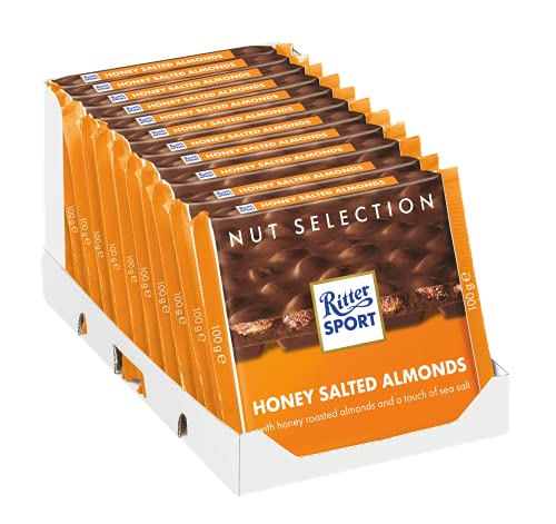 11 x Chocolade Reep Ritter Sport Honing Zout Amandel 100 gram