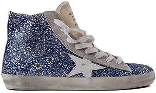 Golden Goose Sneakers Francy Light Blue Glitter/White Women G32WS591.B26