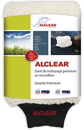 ALCLEAR 950013WH Mikrofaser-Waschhandschuh für die Autowäsche mit Shampoo: Besser als EIN Autowaschschwamm, Poliertuch oder Mikrofasertuch für Auto, Motorrad