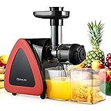 Homever Licuadora prensado frio, extractor de zumo licuadoras para verduras y frutas boca ancha extractor de jugo con...