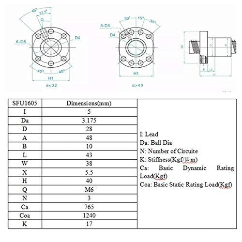 MJZHXM Accesorios Impresora 3D 360 mm de husillo roscado 1Ponga ...