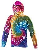 Tie Dye Batik Rainbow Spiral Hoodie 701412 Hood M