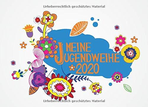Meine Jugendweihe: Gästebuch I Erinnerungsalbum für Glückwünsche I Querformat I Bunte Blumen