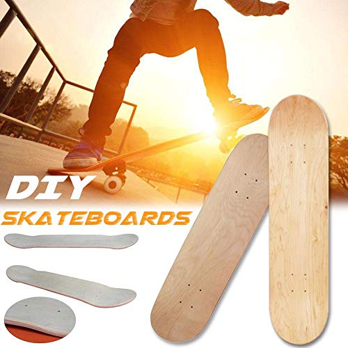 chivalrylist Blank Skateboard Deck 8 Zoll 8 Schicht Maple Wood Blank Double Concave Skateboards Cruiser Holz Deck Natural Skate Deck Board Natürliche
