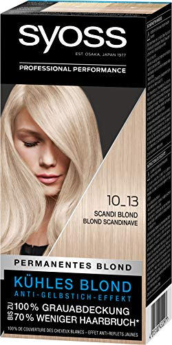 Syoss Haarfarbe Coloration Scandi Blond 10_13 Stufe 3, 3er Pack(3 x 115 ml)