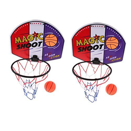 Lowest Price! Baosity 2pcs Mini Basketball Set Portable Basket Ball Hoop for All Age 40x31cm