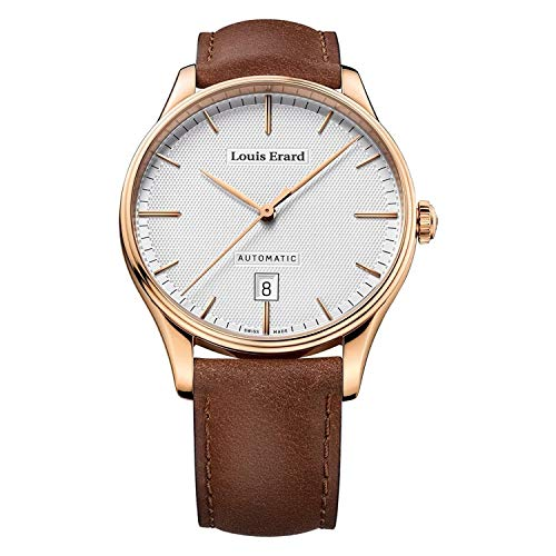 Louis Erard reloj automático Heritage oro rosa PVD con esfera blanca 69287PR31.BVR01