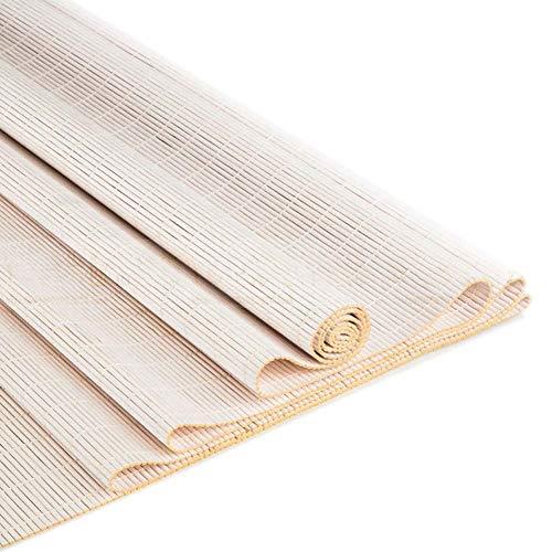 YUDIAN Innenrollos im japanischen Stil, Verdunkelungsvorhang aus weißem Bambus für Schlafzimmer, Küche, Wohnzimmer, einfach zu installierender Sonnenschutz G5105 (Größe: B 60 & mal; H 180CM)
