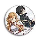 KroY PecoeD Anime Schwert Art Online Cartoon Brosche Pins Abzeichen Zubehör Für Kleidung Rucksack Dekoration Beste Geschenk für Anime Fans Geschenk(Style 03)
