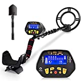 RM RICOMAX Metal Detector for Adults & Kids - High-Accuracy Metal Detector Waterproof LCD Display [PP Function & DISC Mode & Distinctive Audio Prompt] 10 Inch Waterproof Search Coil