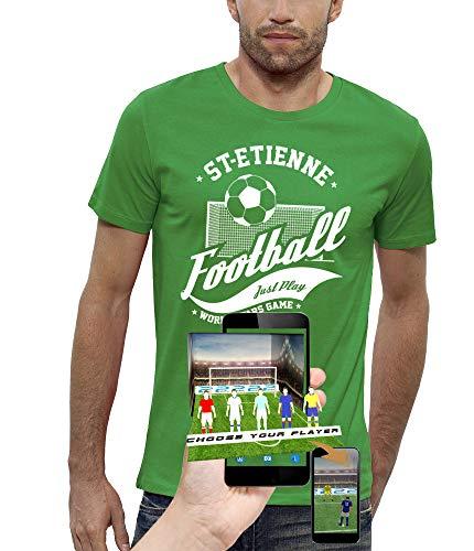 PIXEL EVOLUTION Maglietta 3D Calcio ST-Etienne in Realtà Aumentata Uomo - Taglia L - Vert