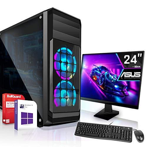 Intel Core i5-10400F 6x2,9GHz Komplett PC-Paket Set|24 Zoll TFT|16GB DDR4|512GB M2|Nvidia GTX 1660 Super 6GB 4K|WLAN|Win 10 64Bit|3 Jahre Garantie|Office PC Computer komplettpaket Rechner