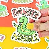 Funny Snake Sticker Danger Noodle Serpent Art Vinyl Sticker