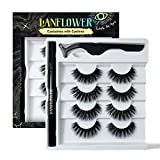 Faux Mink Lashes with Eyeliner, Replacement of Magnetic Eyeliner and Lashes, Waterproof Self-Adhesive Eyeliner