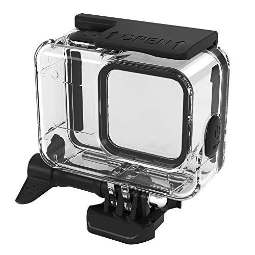 PATALACHI Carcasa impermeable para Gopro Hero 8 Negro 220 pies fotografía subacuática botón de goma suave venta con montaje de liberación rápida y accesorios de tornillo