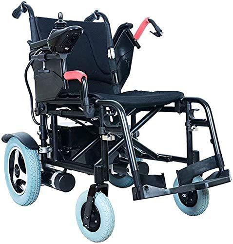 Elektrische Rollstühle für Erwachsene Faltbare Elektro-Rollstuhl Elektro-Rollstuhl for ältere und behinderte Menschen Tragbarer Rollstuhl 360 ° Joystick, Gewicht: 125 kg (mit Lithium-Batterie), 24Ah F