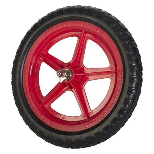 STRIDER Ultralight pannensichere Kinder Laufrad Reifen 12 Zoll, Reifen unplattbar für Laufrad, Gummireifen Rot