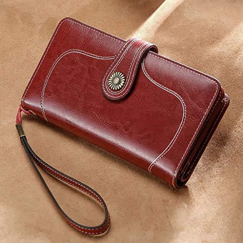 Haijun - Portafoglio da donna, in pelle, a portafoglio, per carte di credito