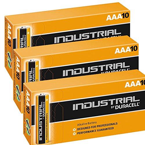 Duracell Procell Industrial MN2400 Alkaline AAA Ersatzbatterien LR04, 30 Stück