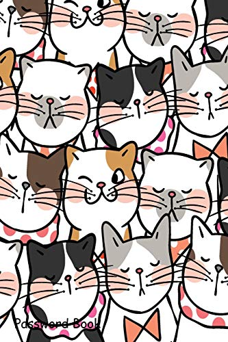 Password Book: Include Alphabetical Index With Cute Cats Pattern