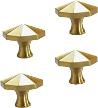 DOITOOL 4 Stks Vintage Ladeknop Messing Meubels Handvat Knoppen Decoratieve Kast Lade Deurknop Voor Meubels Kast Dressoirs