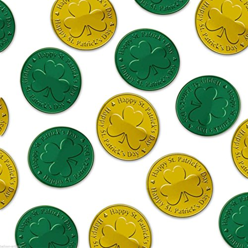 Green & Gold Coin Table Sprinkles 4cm - 0