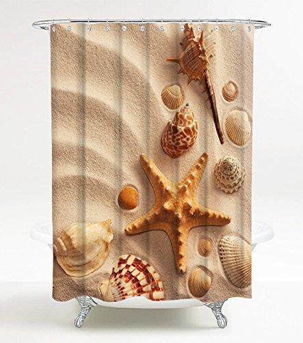 Duschvorhang Sanibel 180 x 200 cm, hochwertige Qualität, 100prozent Polyester, wasserdicht, Anti-Schimmel-Effekt, inkl. 12 Duschvorhangringe