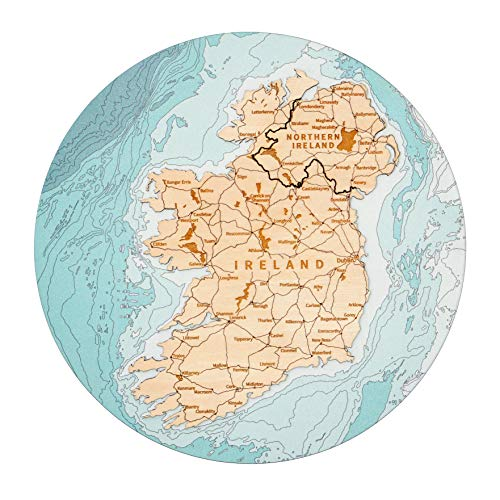 3D Ireland Wood Map Wall Art With Wood Gift Box, Gifts For Men, St Patricks Day Gifts, St Patricks Day Decorations For The Home, St Patrick's Day Decor, Celtic Decor, Irish Gifts, Ireland Gifts, Irish Gifts for Men, Celtic Gifts, Ireland Map Wall Decor, House Warming Gifts New Home