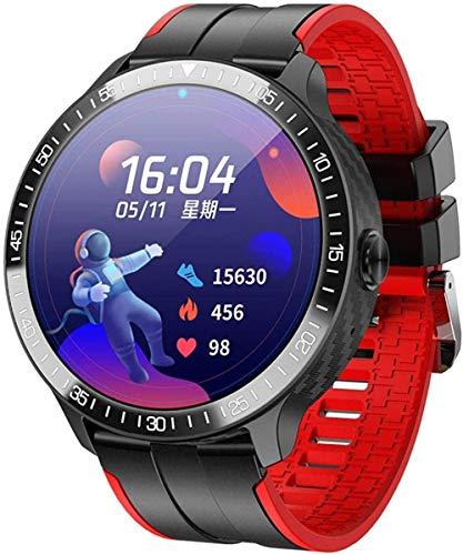 ZHENAO Pantalla Táctil Relojes Inteligentes Llamada Bluetooth, Temperatura de la Temperatura Presión Arterial de Oxígeno en la Sangre, Reloj Podómetro Compatible con Android Ios-Red