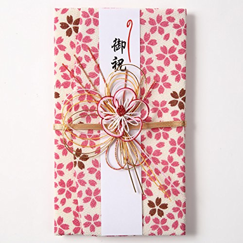 ふくさ祝儀袋桜 ピンク 袱紗 ふくさと祝儀袋の一体型 ご祝儀袋 有高扇山堂