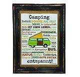AnneSvea Camping entspannt. Druck Poster A4 Bus Camper