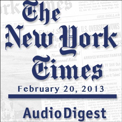 The New York Times Audio Digest, February 20, 2013 copertina