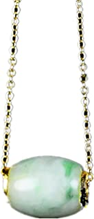 yigedan Natural Authentic Jade Pendant Necklace Designed for Good Luck and Wealth