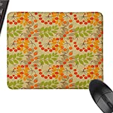 Rowan Customized Personalized Gaming Mouse pad Vivid Colorful Graphic Pattern of Rural Foliage Fruits in Autumn Season Warm Colors Beautiful Printing W15.7 x L23.6 x H0.8 Inch Multicolor