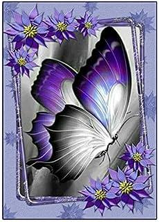 Pintura con diamantes pintura sobre lienzo DIY 5D pintura al oleo por numeros imágenes de pared manualidades mariposas brillantes bordado, punto de cruz kit de decoración de pared, 30 x 40 cm