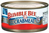 Bumble Bee White Crabmeat, 6 Ounce Tins (Pack of 12)