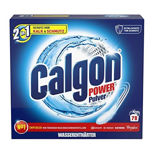 Calgon 3in1 Power Pulver – Wasserenthärter gegen Kalkablagerungen und Schmutz in der Waschmaschine – Beugt unangenehmen Gerüchen vor – 1 x 2,5 kg
