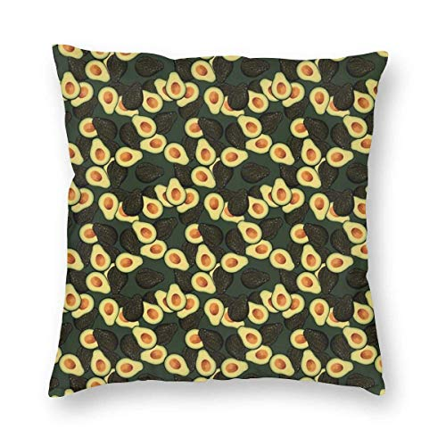 Lawenp Square Throw Pillow Covers,18'x18' Avocados_69 Decorative Cushion Covers Case for Sofa Couch Home Decor
