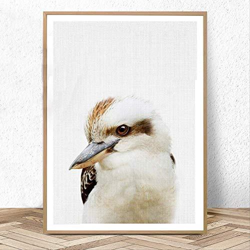 wangjingxi Australian Nursery Animal Decor Bébé Animaux Posters Et Gravures Peinture Murale Photos Enfants Chambre Décoration 30X40Cm