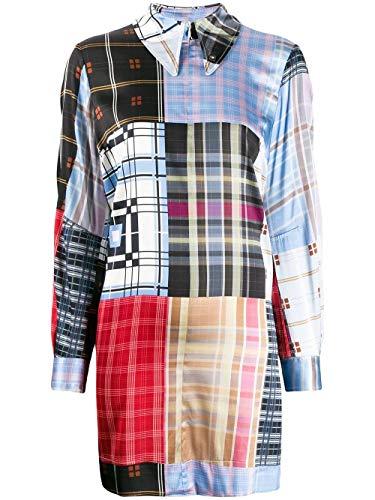 Luxury Fashion   Ganni Dames F4295681 Blauw Zijde Jurken   Lente-zomer 20
