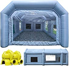 TKLoop 26X15X10Ft Portable Inflatable Paint Booth with Air Filter System, Larger Blow Up Spray Booth Upgraded More Durable with Blower