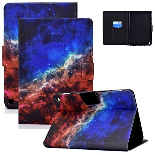 Fire HD 8 Plus Tablet Case, Fire HD 8 Case(10th Gen, 2020 Release), Coopts Slim Auto Sleep Wake PU Leather Protective Folding Stand Card Slots Case for Amazon Fire HD 8 2020/Fire HD 8 Plus, Blue Red