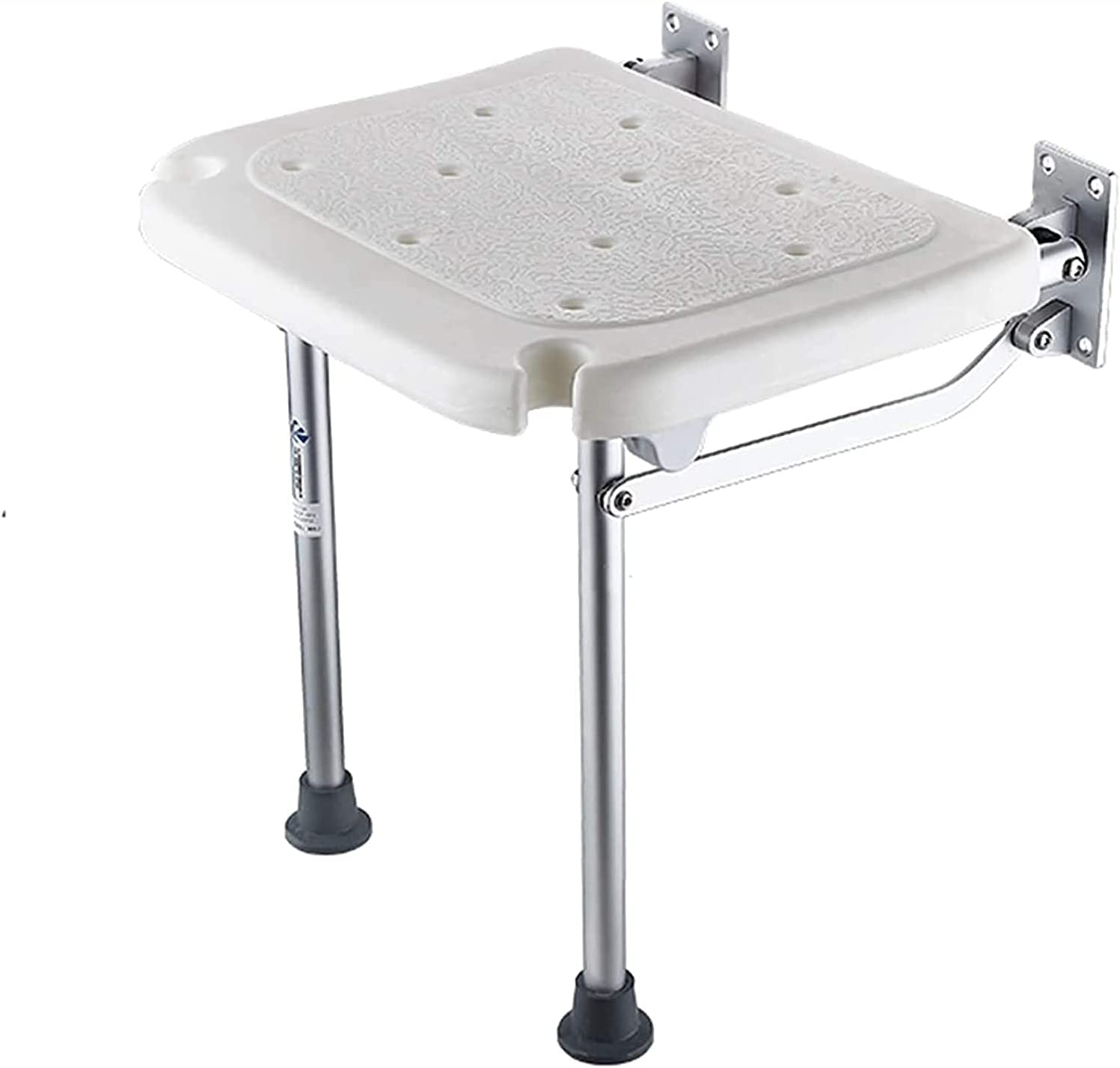 In Dedication stock Wall-Mounted Steel Shower Chair Seat Rubber with Folding