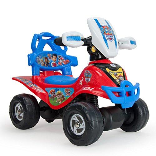 PAW PATROL Disney INJUSA-Quad Correpasillos Patrulla Canina para Niños de 1 a 3 Años con Arco de Seguridad y Mango de Empuje, Color Rojo y Azul, 56.1 x 39.4 x 34.5 1353