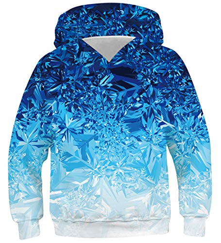 AIDEAONE Hoodie Junge Mädchen Teenager Pullover Blau Hoodie Pulli XL