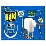 Raid Insekten Stecker, Mückenschutz, Stecker & 1 Nachfüller, duftfrei, 45 Nächte, 3er pack