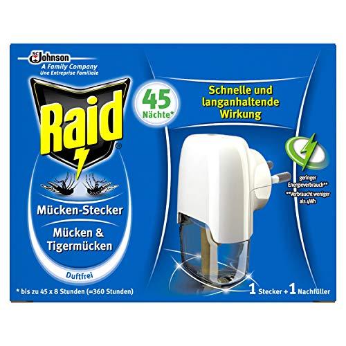 Raid Insekten-Stecker zum Schutz vor Mücken und Tigermücken (1 Stück)