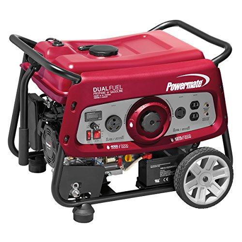 Powermate 6957 Electric Start Dual Fuel, 3500 Watts