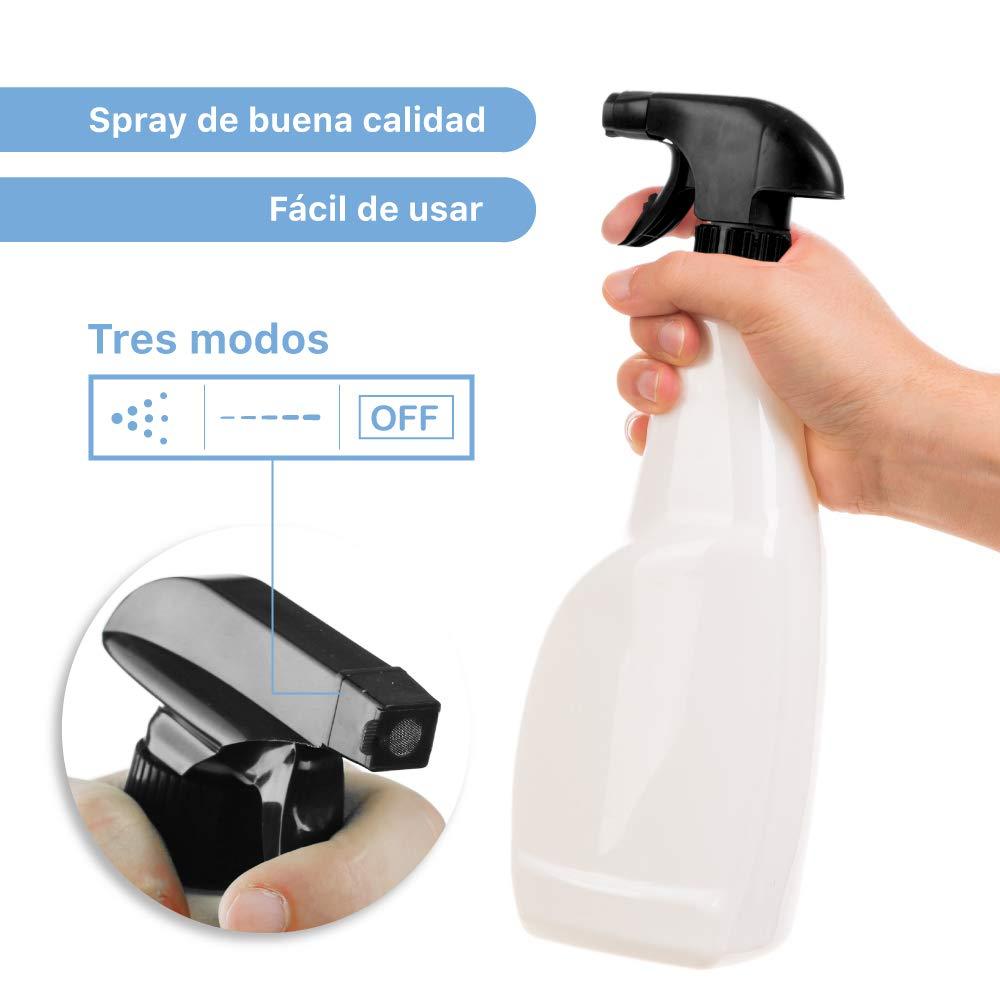Rc Ocio Botes Spray vacios con pulverizador para Limpieza Agua, Jardin dispensadores a presion con difusor Packs de 3 Botes de plastico de 750ml: Amazon.es: Jardín