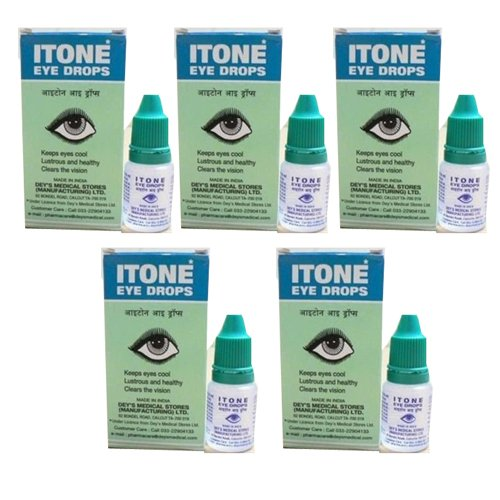5 X Itone Ayurvedic Herbal Eye Drops Natural Allergies 10ml